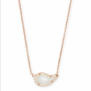Kendra Scott 14k rose gold MOP Tansy necklace